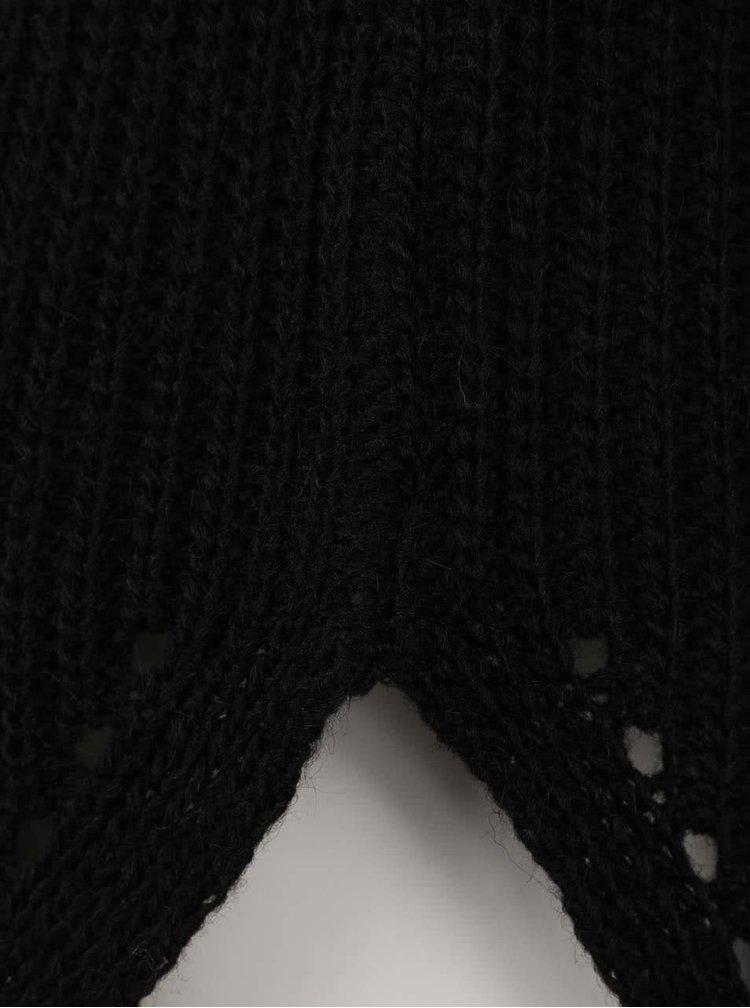 Černý delší svetr Madonna Pauline