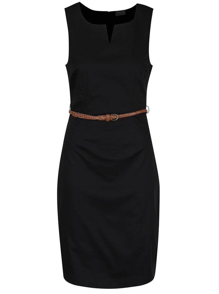 Černé šaty s páskem VERO MODA Pekaya