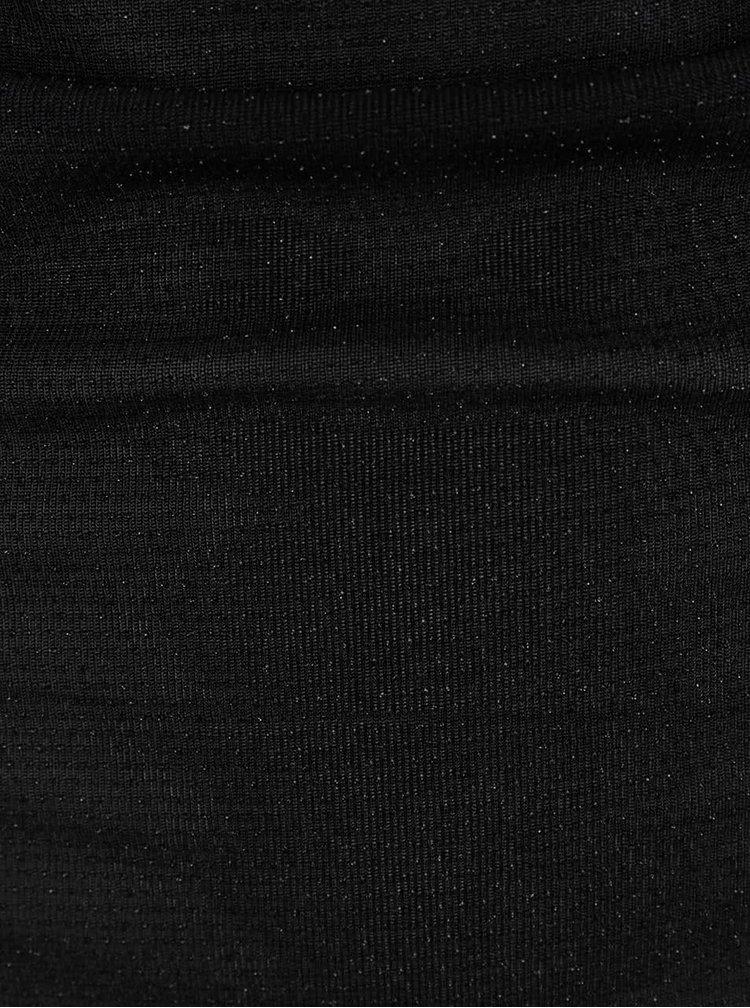 Černý jemně třpytivý top s vodou v dekoltu Madonna Daniela