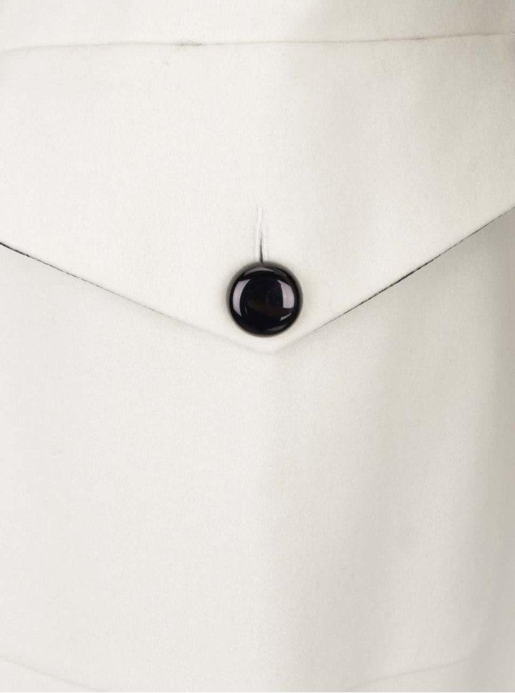 Krémový vlněný kabát Closet