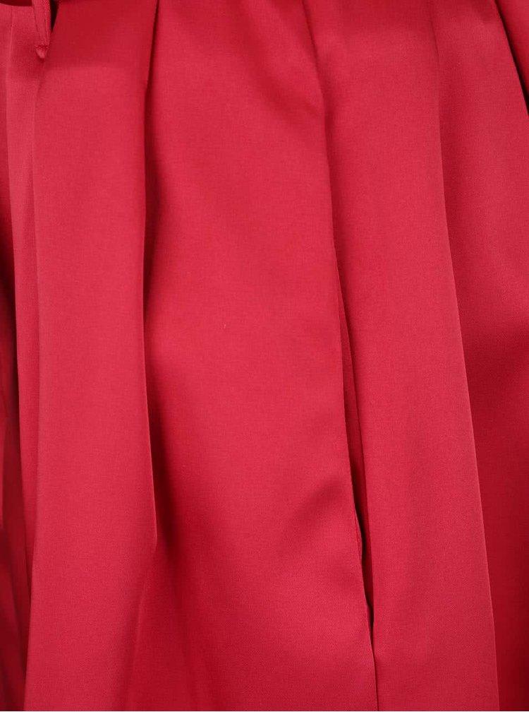 Červená lesklá sukně Closet