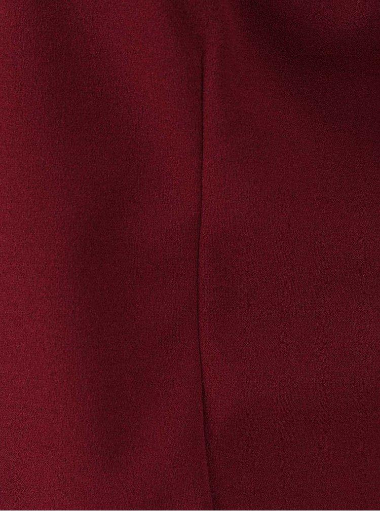 Vínový krátký blazer Madonna Mya