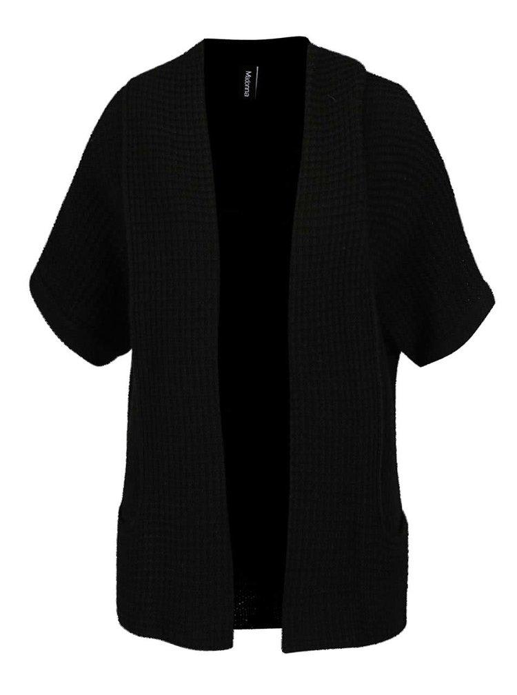 Černý kadrigan s krátkými rukávy Madonna Sila