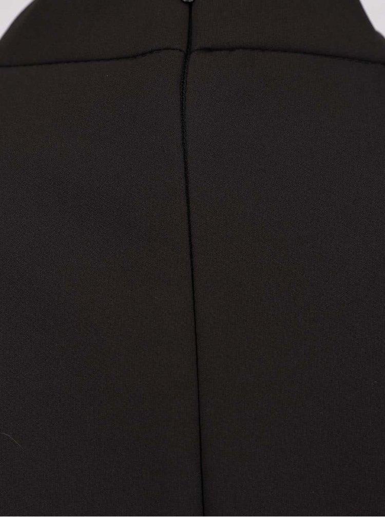 Rochie neagra cu guler choker Closet