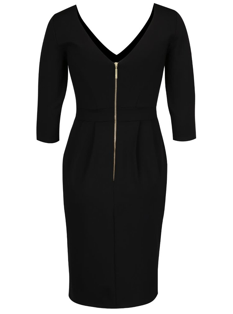 Černé šaty s 3/4 rukávy Closet