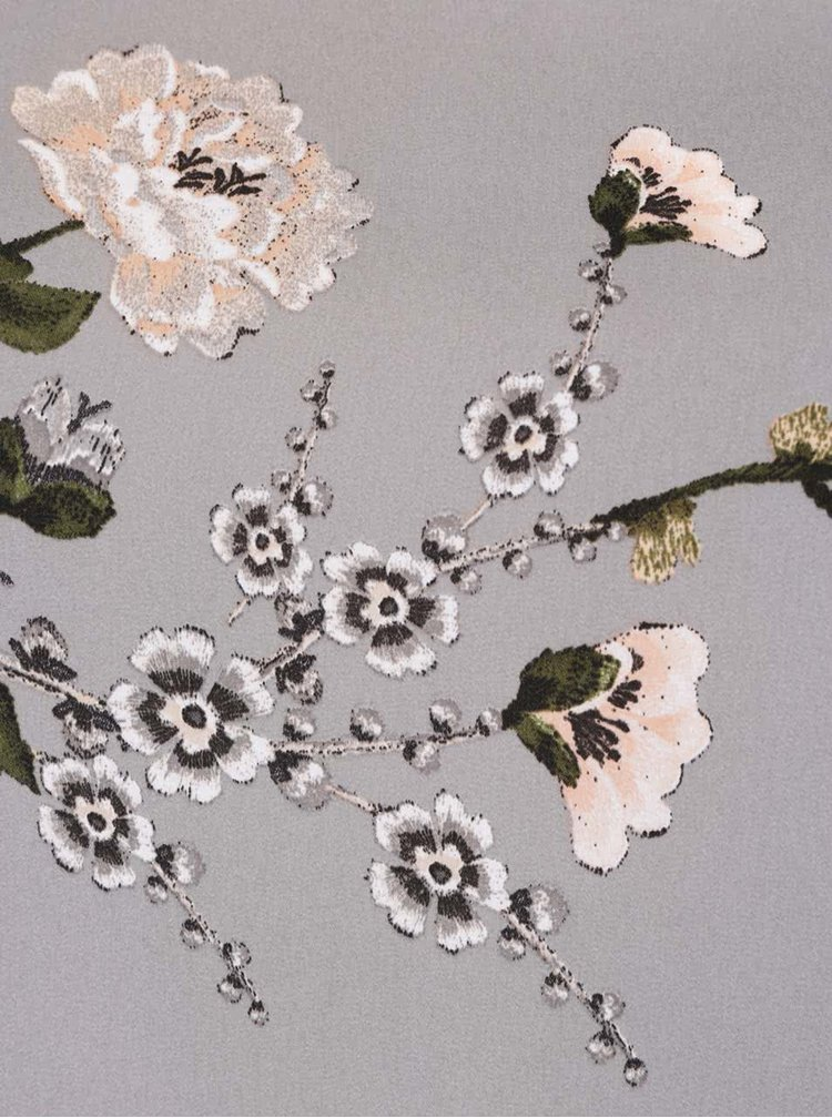 Šedá halenka s květinovým vzorem Dorothy Perkins Curve