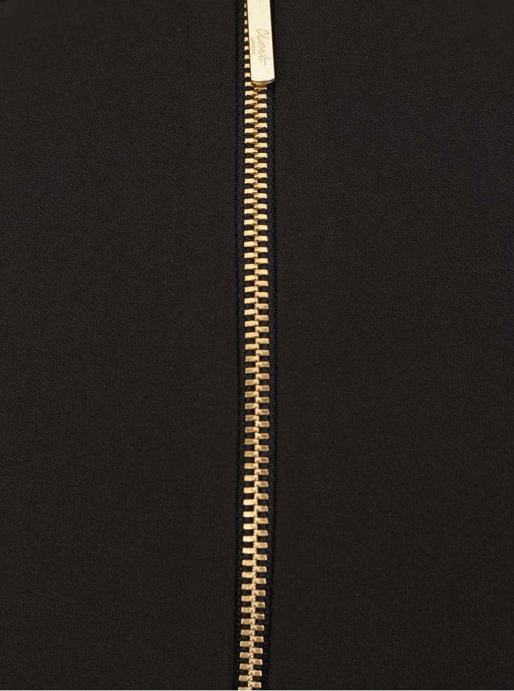 Černo-modré šaty s prošívaným vzorem Closet
