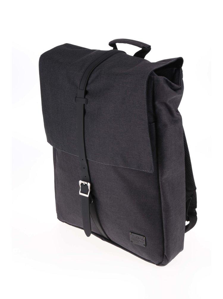 Tmavě šedý unisex batoh s klopou a gumovou sponou Spiral Manhattan 16 l