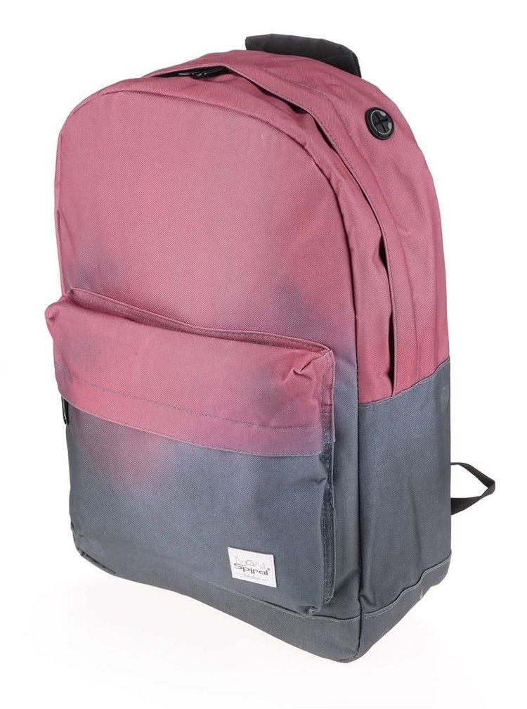 Šedo-růžový dámský batoh s ombré efektem Spiral Fade 18 l