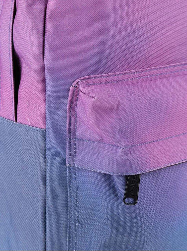 Modro-fialový dámský batoh s ombré efektem Spiral Fade 18 l