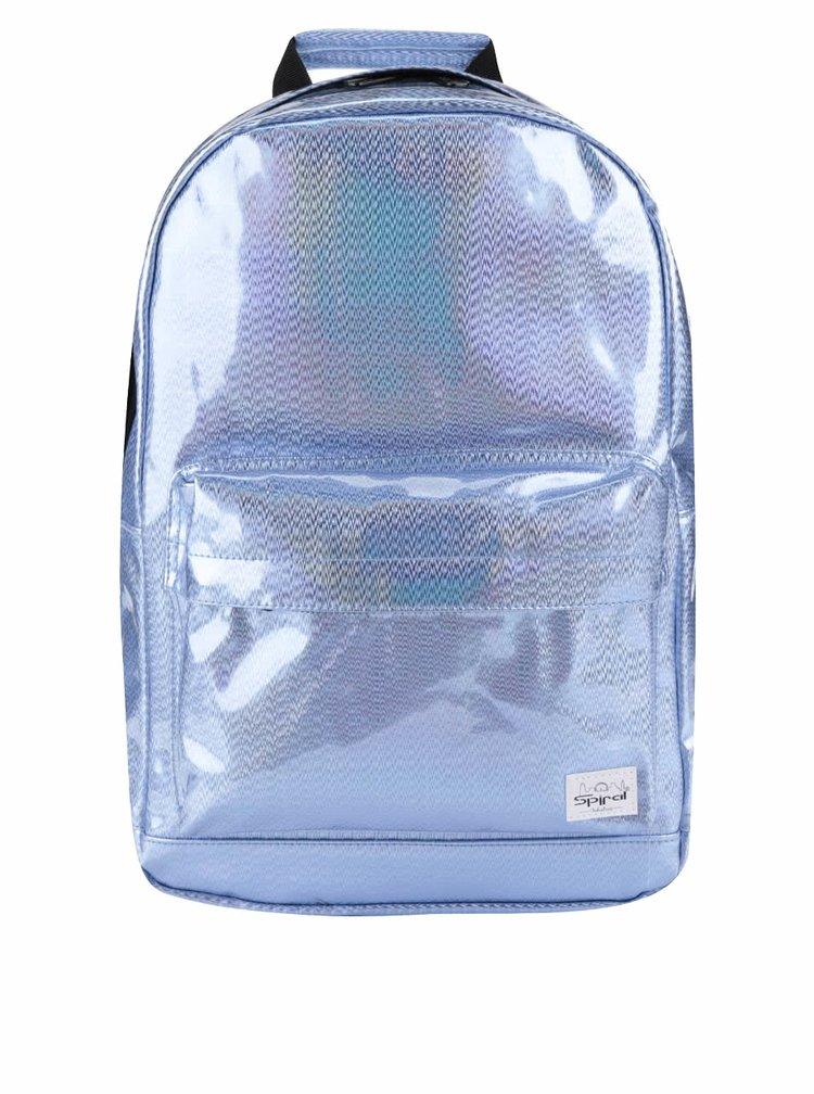 Světle modrý dámský holografický batoh Spiral Glitz 18 l