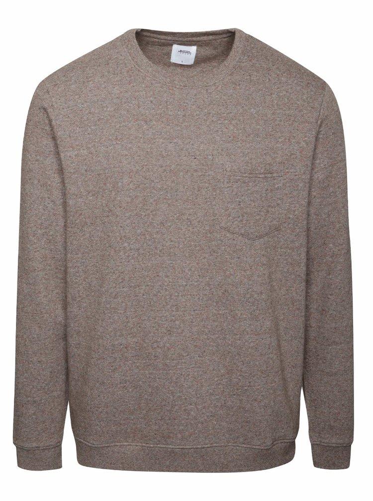Bluză maro melanj Burton Menswear London