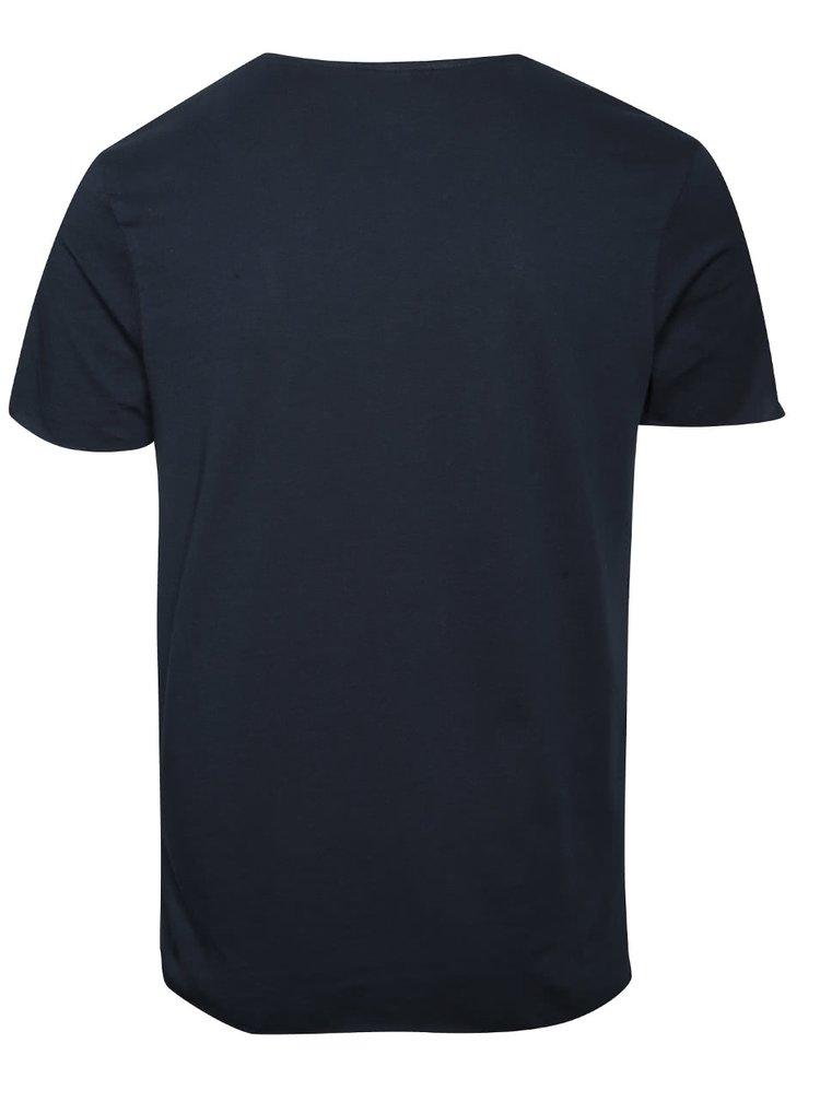 Tmavě modré triko Selected Homme Merce
