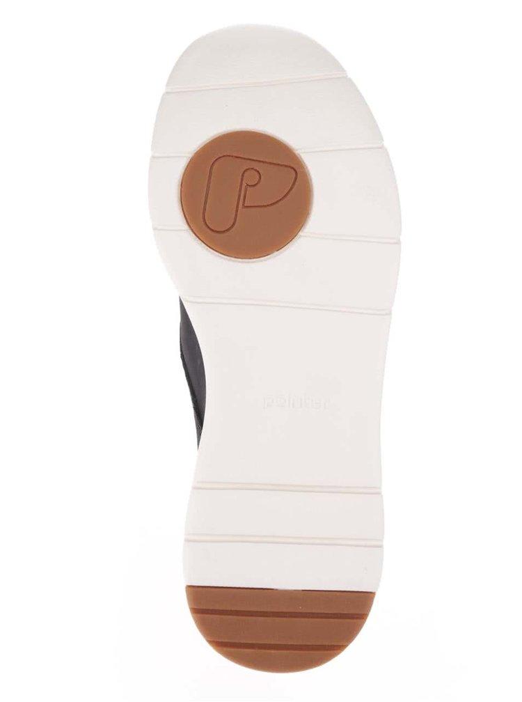 Černé pánské kožené tenisky Pointer Crago