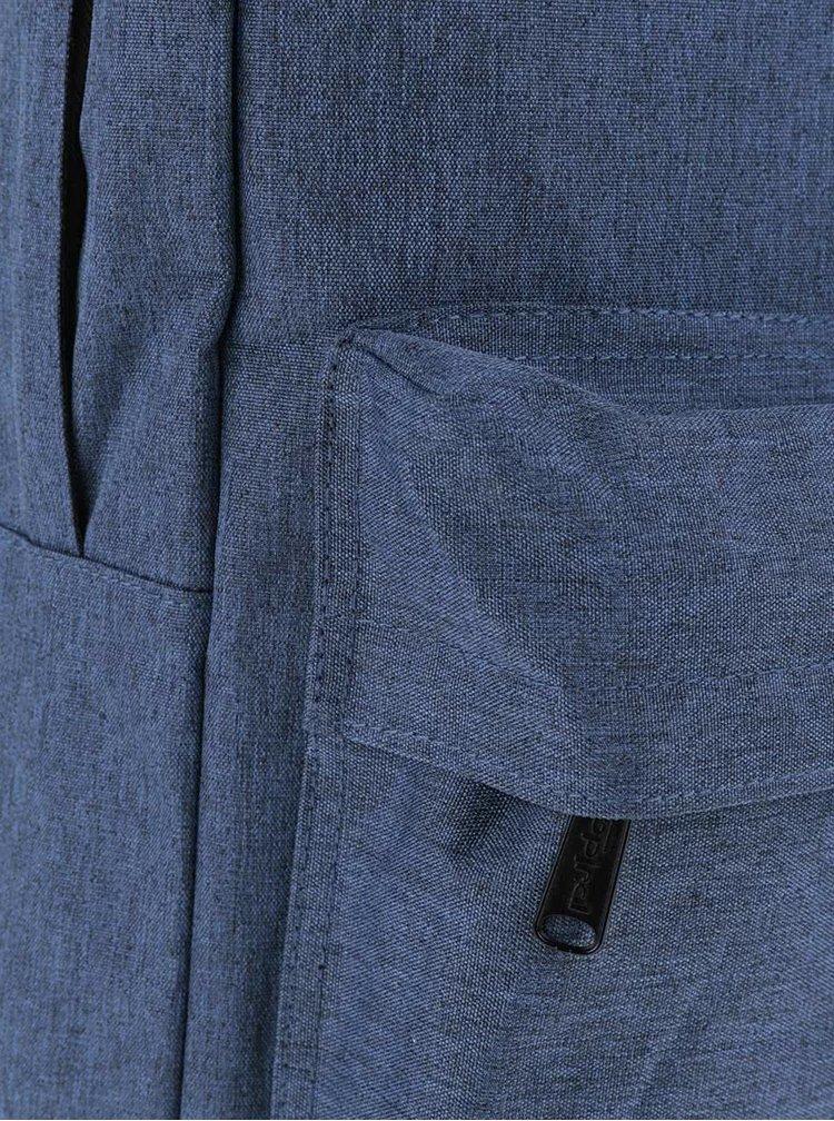 Modrý jemně žíhaný unisex batoh Spiral 18 l