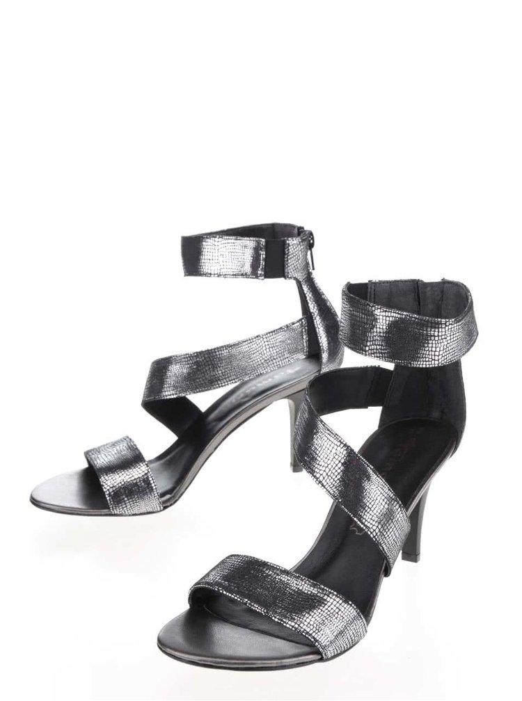 Sandale argintii Tamaris din piele