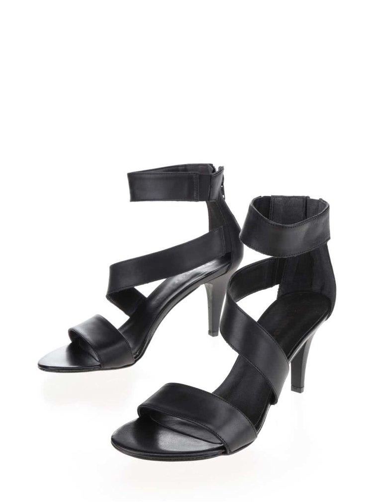 Sandale negre Tamaris cu barete