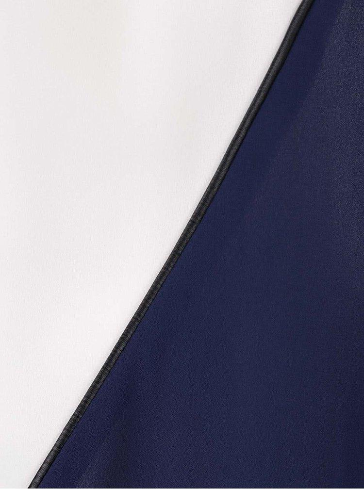 Modro-krémová halenka Dorothy Perkins Petite