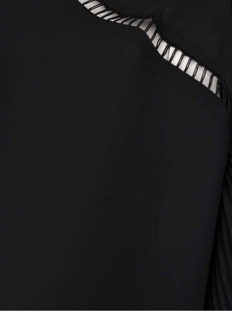 Černá halenka s dlouhými rukávy Dorothy Perkins Curve