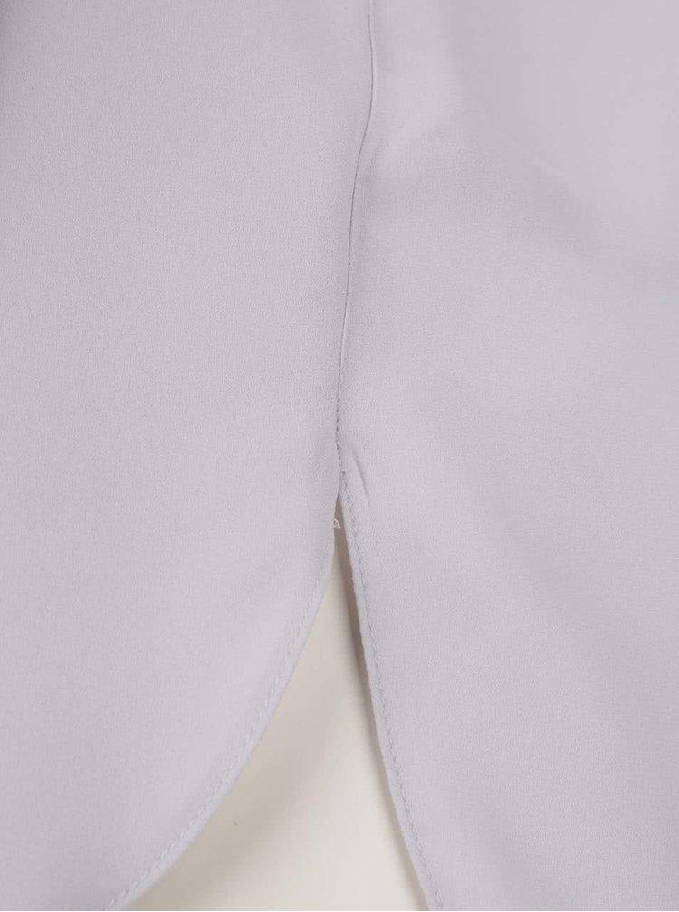 Světle šedá průsvitná halenka s dlouhými rukávy Dorothy Perkins