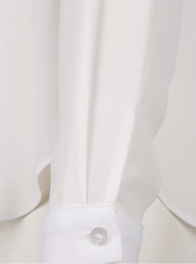 Krémová průsvitná halenka s dlouhými rukávy Dorothy Perkins