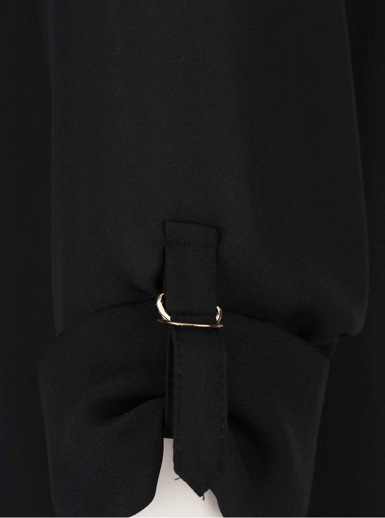 Bluză neagră Dorothy Perkins cu dantelă