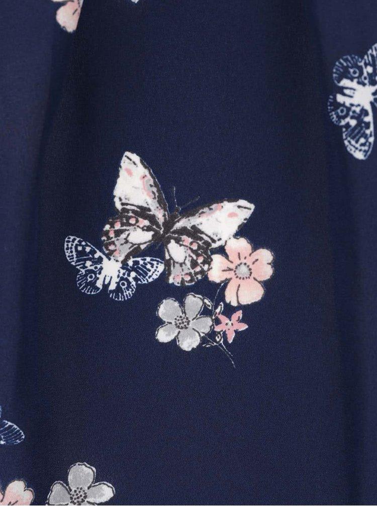 Tmavě modrá halenka s motivem motýlů Billie & Blossom Petite