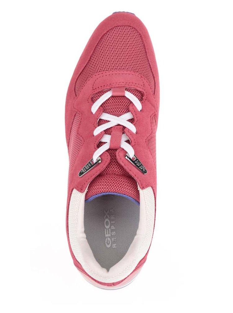 Červené dámské tenisky se semišovými detaily Geox Shahira