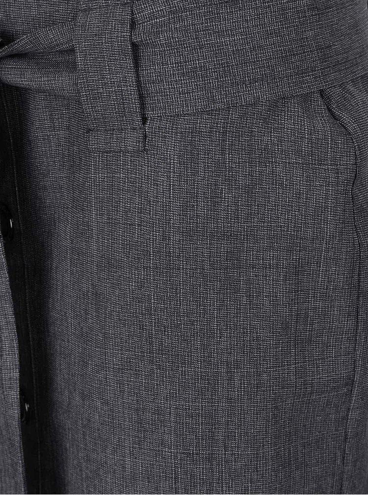 Tmavě šedá midi sukně Dorothy Perkins