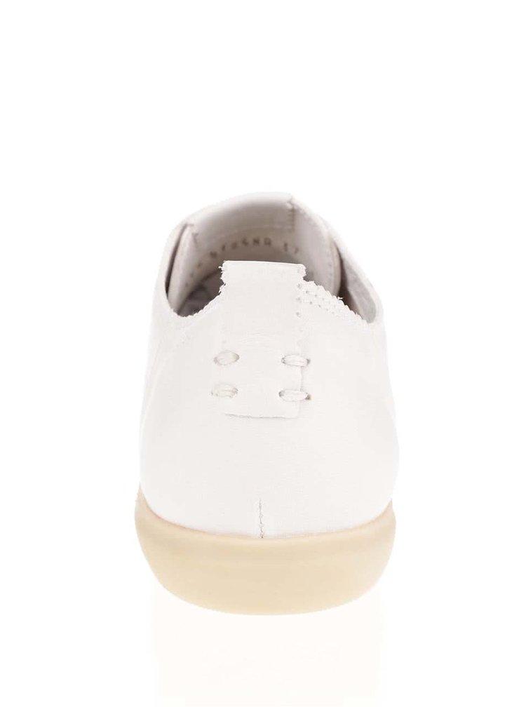 Krémové dámské nízké kožené tenisky Geox New Do A