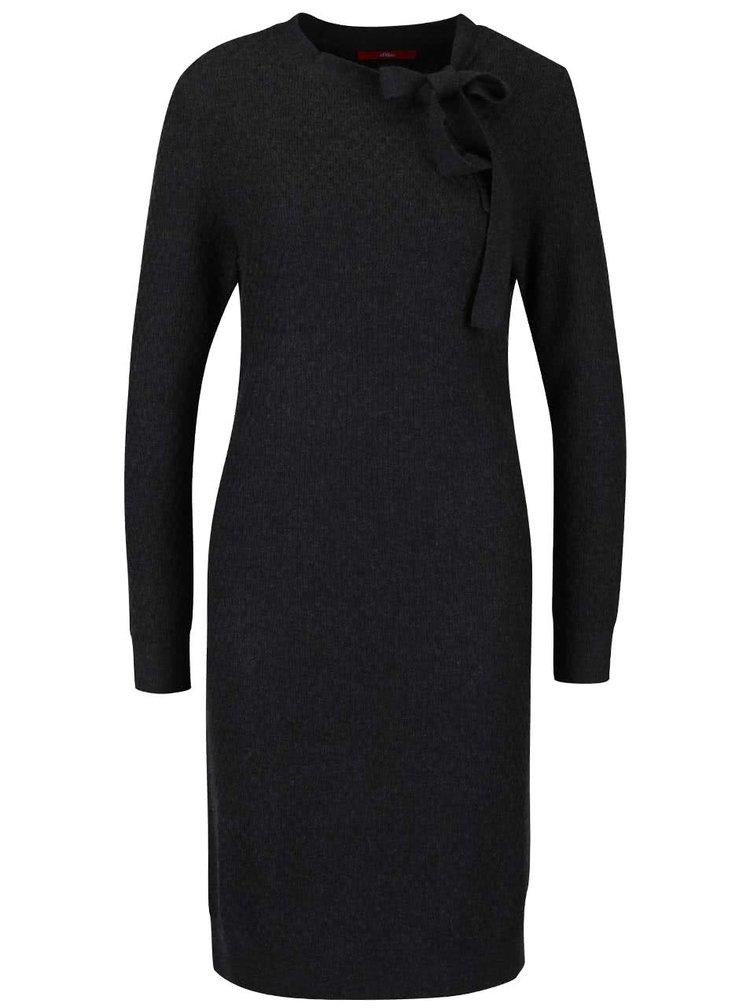 Rochie tricotată gri închis s.Oliver