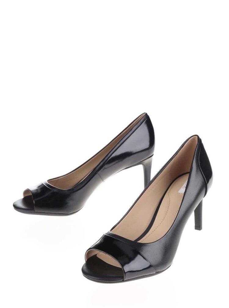 Pantofi negri Geox Audie din piele