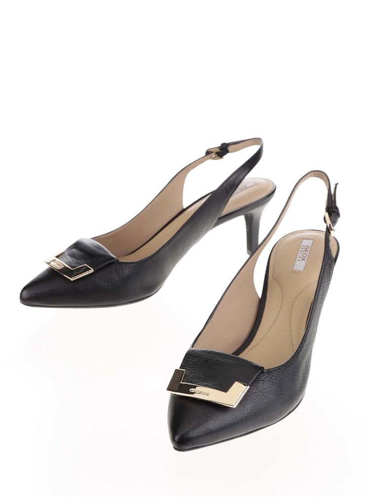 Pantofi negri Geox Elina cu baretă