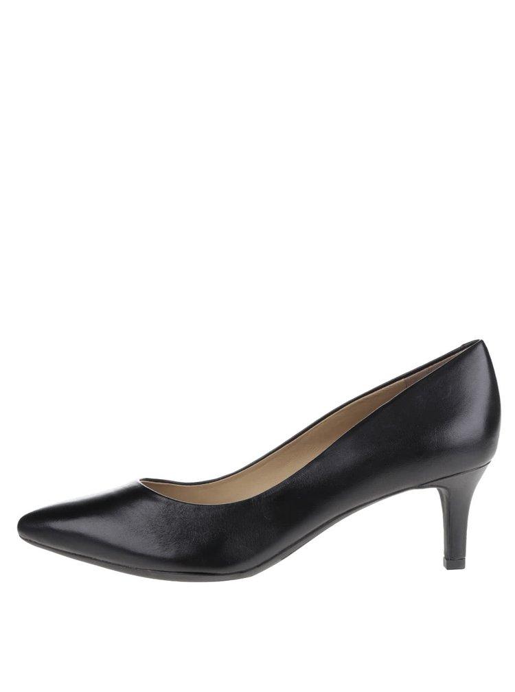 Pantofi cu toc negri Geox Elina din piele