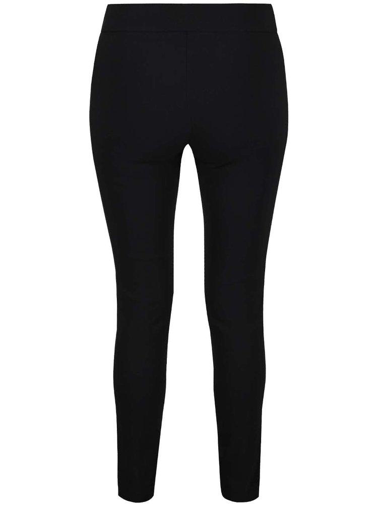 Černé skinny kalhoty na gumu v pase Miss Selfridge