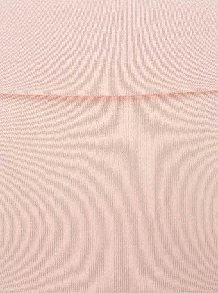 Světle růžové body s průstřihy na ramenou Miss Selfridge