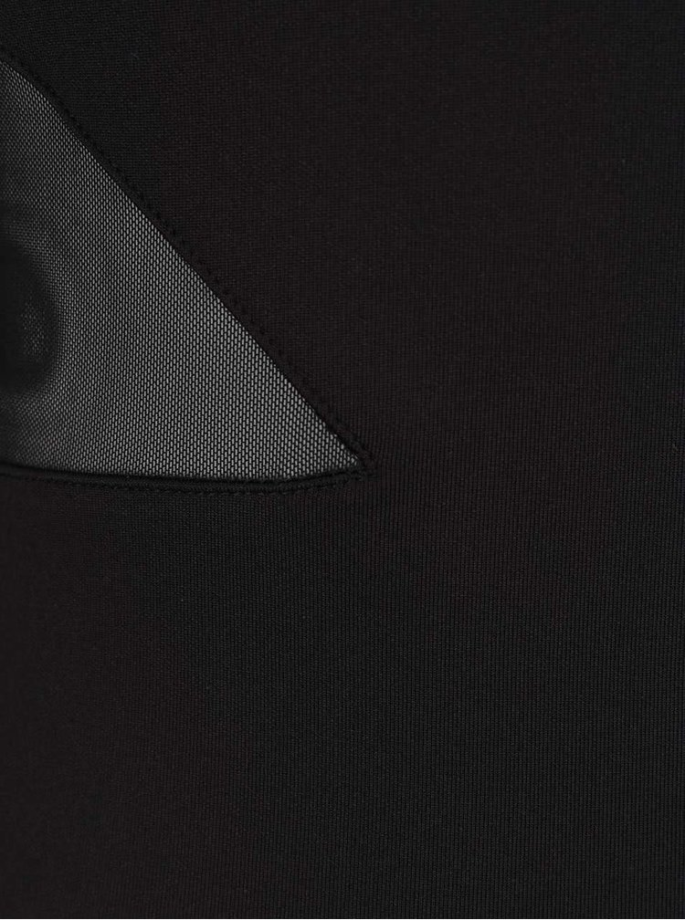 Černé maxišaty s průsvitnými detaily Miss Selfridge Petites