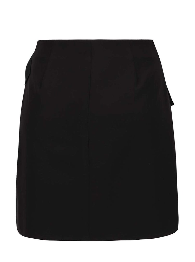 Černá zavinovací sukně Miss Selfridge