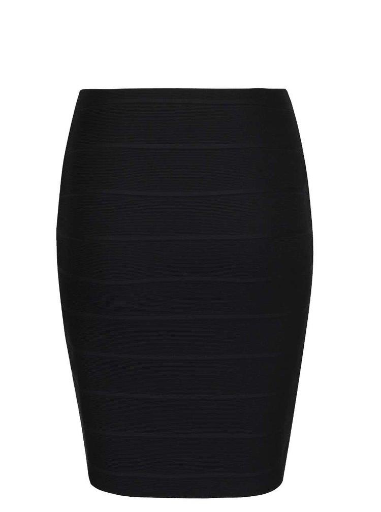 Černá překládaná sukně Miss Selfridge