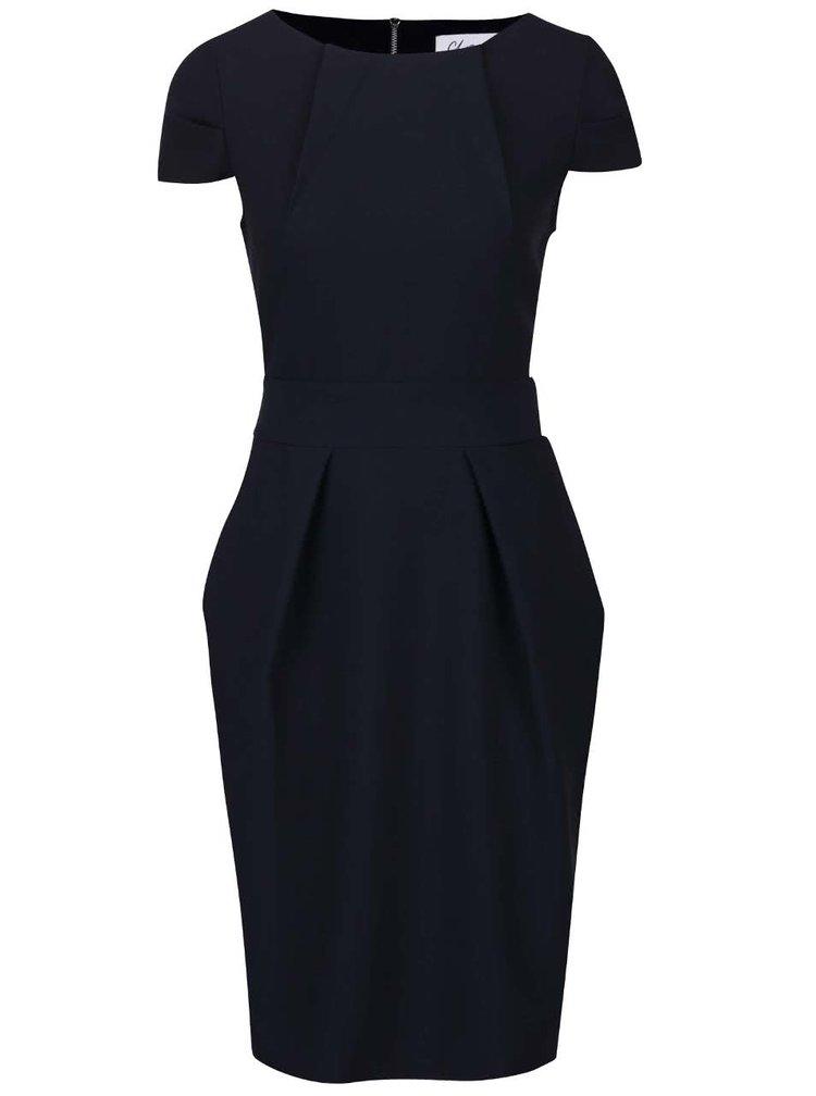 Rochie albastru inchis Closet cu cordon in talie
