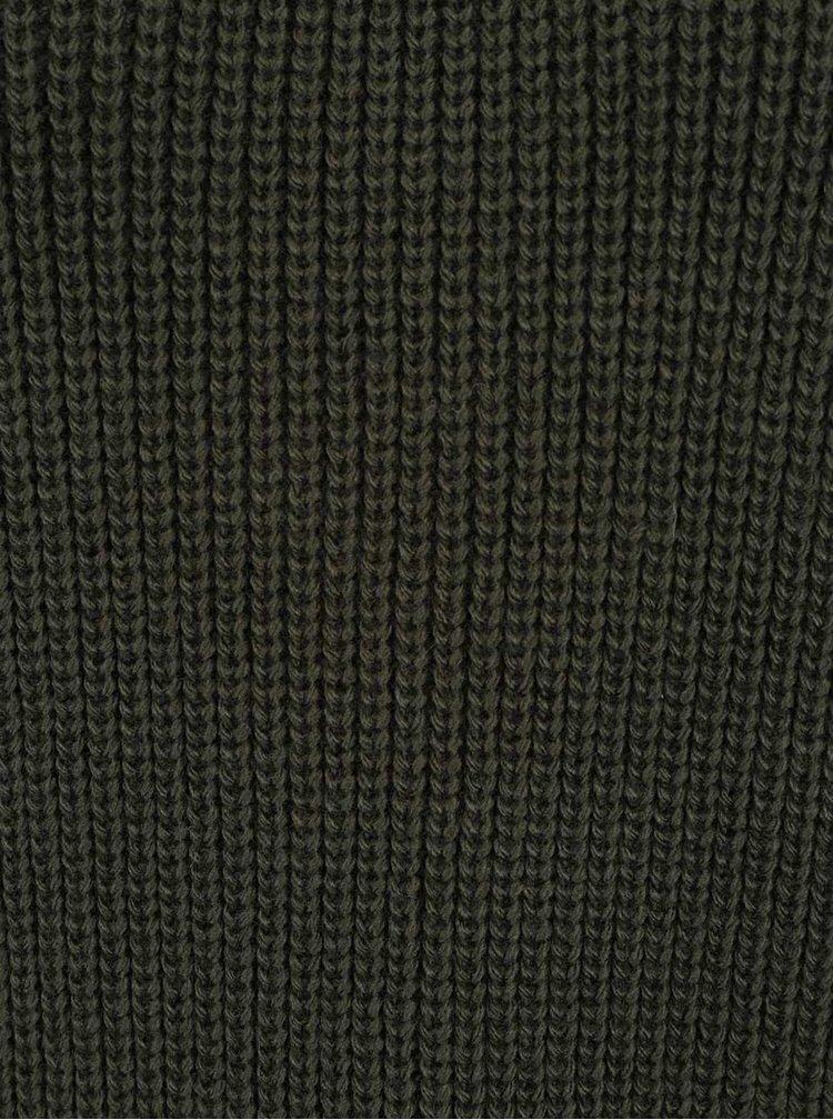 Pulover verde inchis Miss Selfridge cu siret la spate
