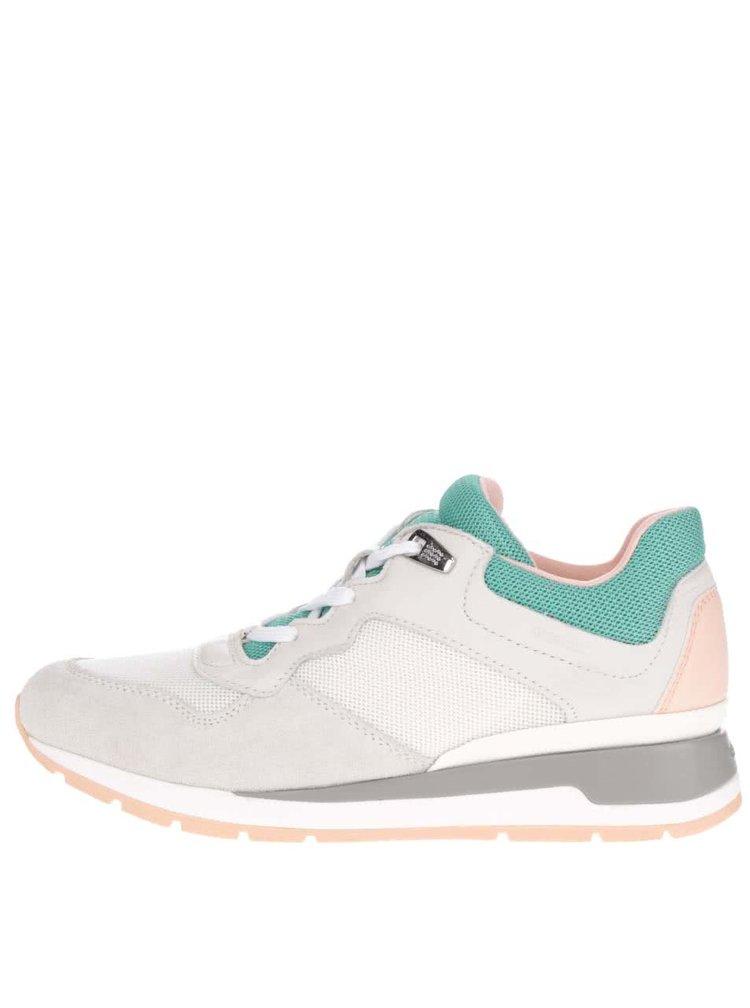 Pantofi sport crem & verde Goex Shahira