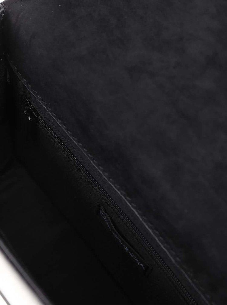 Černá crossbody kabelka s detaily ve zlaté barvě Miss Selfridge