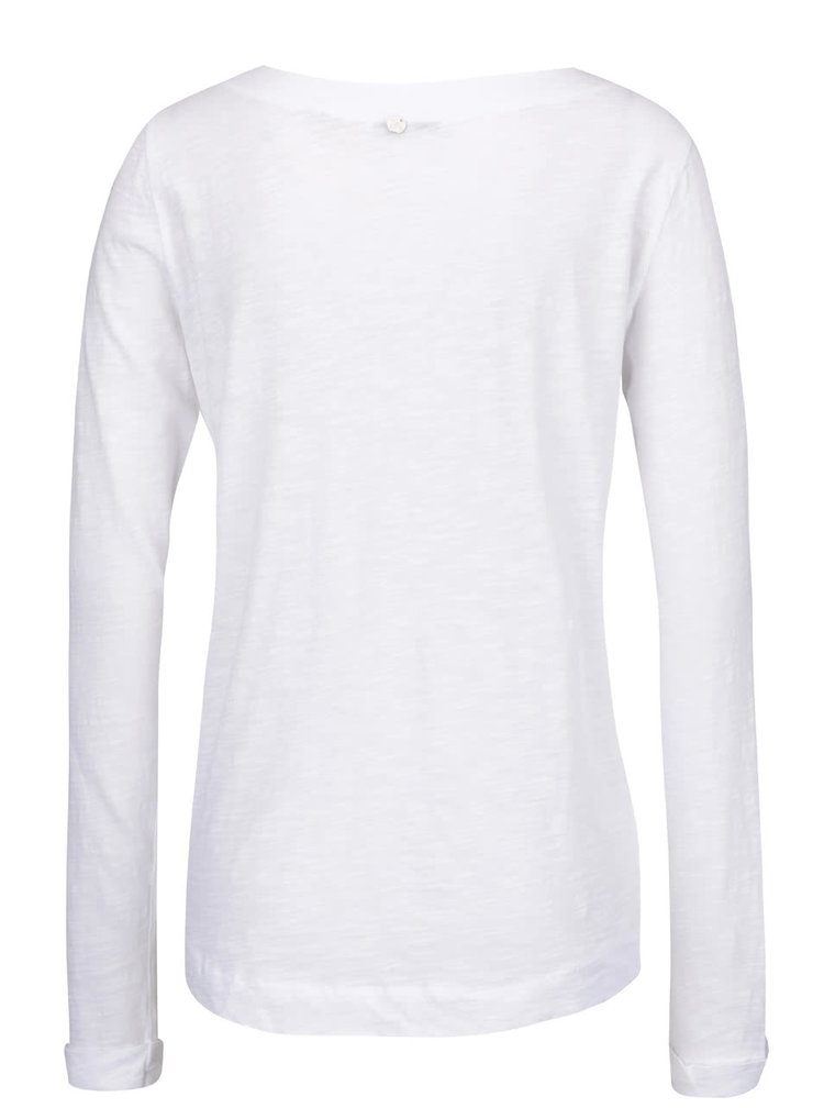 Bílé tričko s dlouhým rukávem a nášivkami Rich & Royal
