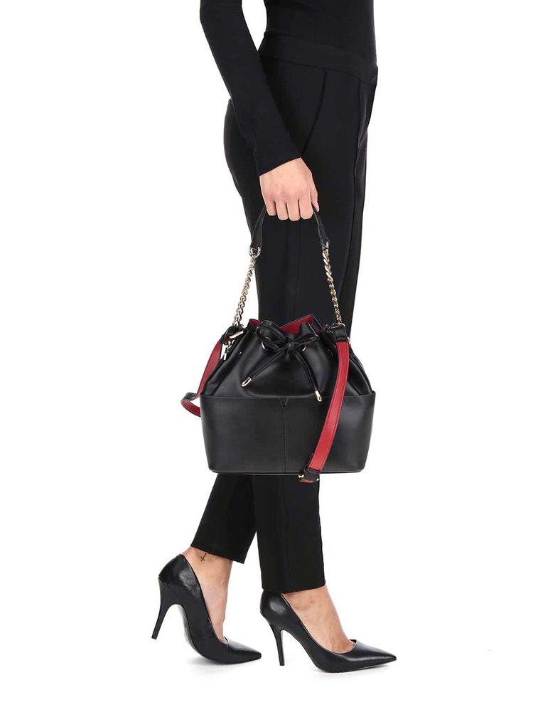 Černá kabelka s popruhem Miss Selfridge