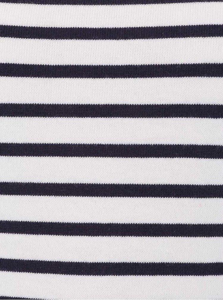 Modro-krémové pruhované tričko s dlouhým rukávem Rich & Royal