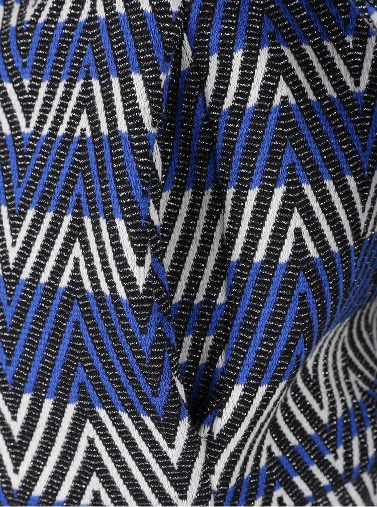 Černo-modrý vzorovaný blejzr Rich & Royal
