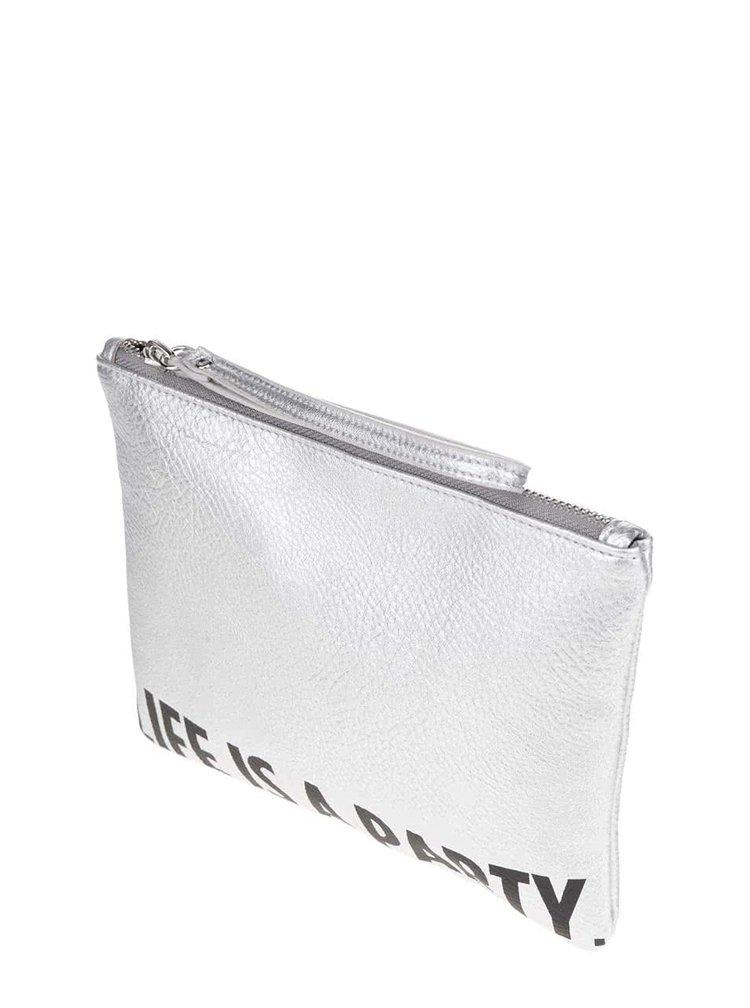 Geantă argintie TALLY WEiJL cu aspect peliculizat