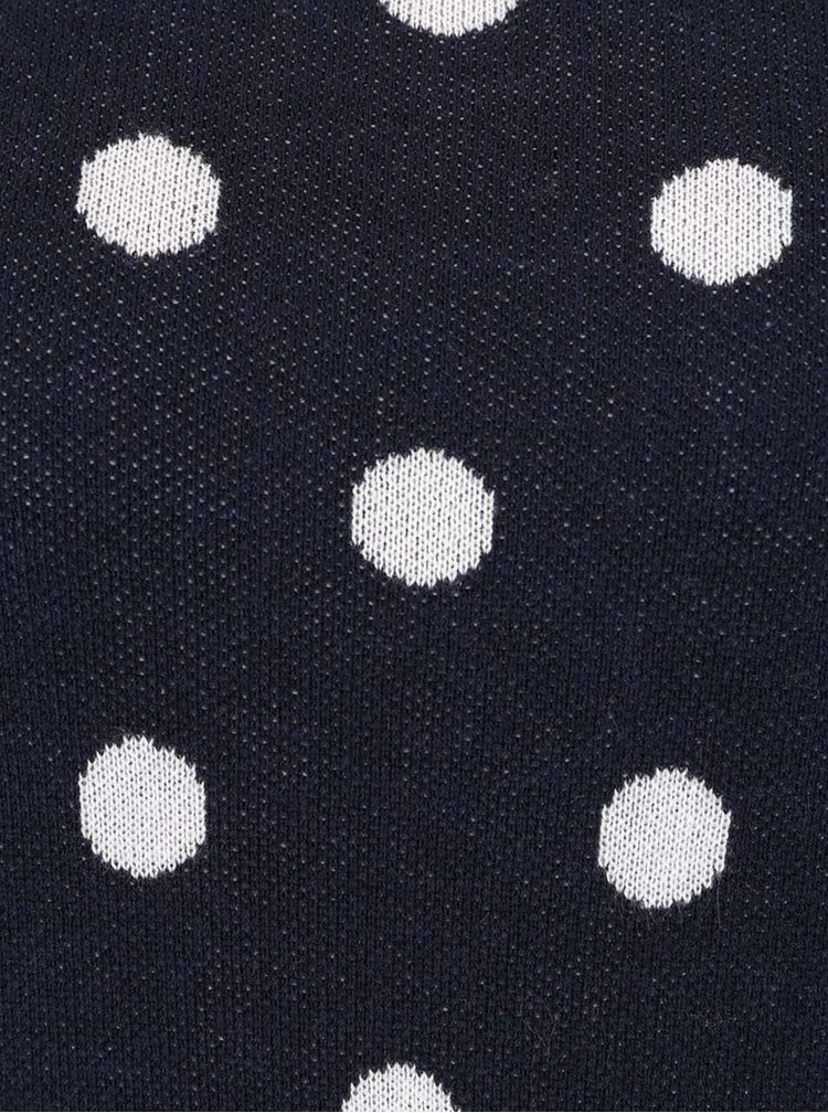 Tmavě modrý puntíkatý svetr ONLY Daniella