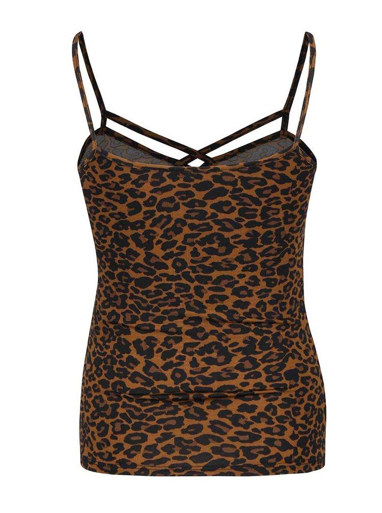 Černo-hnědé tílko s leopardím vzorem TALLY WEiJL